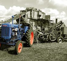 Fordson & the Threshing Machine by Rob Hawkins