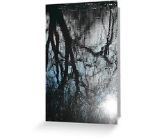 Reflected Sky Through Reflected Trees Greeting Card