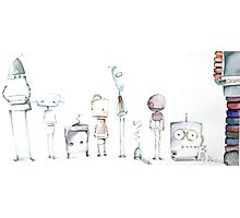 Robot Roll Call Photographic Print