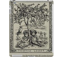 Kate Greenaway Collection 1905 0190 Book Plate for Frederick Locker Lampson iPad Case/Skin