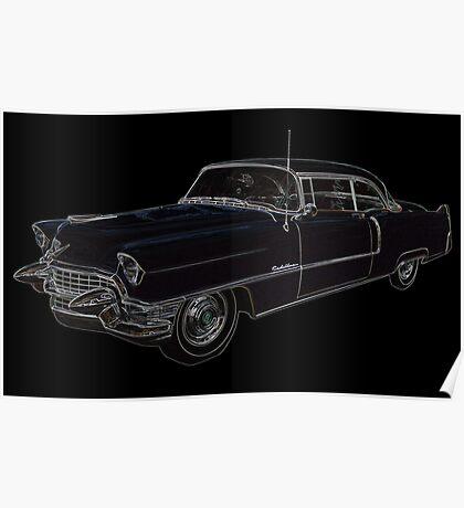 1950's Cadillac Eldorado Poster