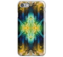 Emerald Kiss Abstract Art by Sharon Cummings iPhone Case/Skin