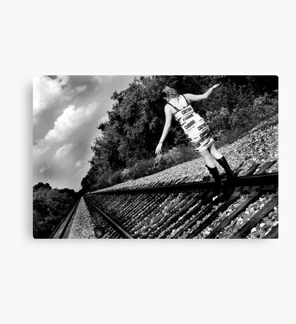 Urban Railway Canvas Print