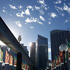 Darling Harbour in the morning by genlloyd