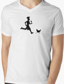 Run, chicken run ! Mens V-Neck T-Shirt