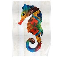 Colorful Seahorse Art by Sharon Cummings Poster