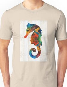 Colorful Seahorse Art by Sharon Cummings Unisex T-Shirt