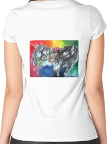 A Colorful Cast Women's Fitted Scoop T-Shirt
