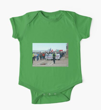 Anti austerity protest, Hastings One Piece - Short Sleeve