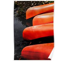 Four Canoes Poster