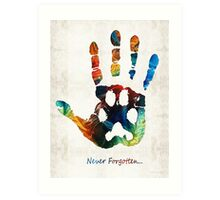 Rainbow Bridge Art - Never Forgotten - By Sharon Cummings Art Print