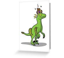 King Craptor Greeting Card