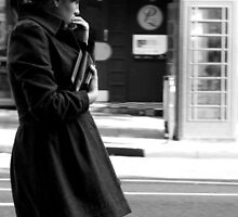 Lady by Telephone Box. by katielovesphoto