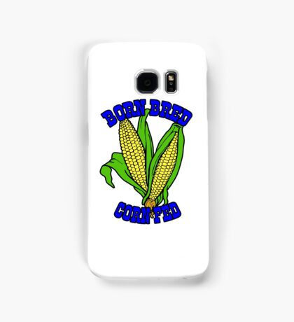 BORN BRED CORN FED (blue) Samsung Galaxy Case/Skin