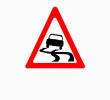 Slippery Road Symbol Unisex T-Shirt