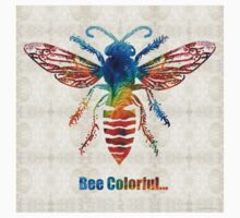 Bee Colorful - Art by Sharon Cummings Kids Tee