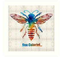 Bee Colorful - Art by Sharon Cummings Art Print