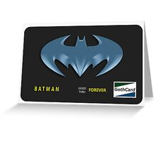 Bat-Credit Card Greeting Card