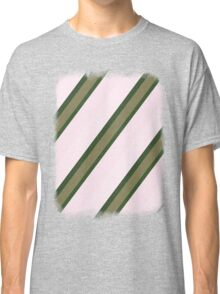 Pink Roses in Anzures 2 Stripes 3D Classic T-Shirt