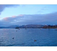 Last snow of spring........ Lake Windermere Photographic Print