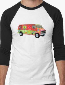 Peace and love van Men's Baseball ¾ T-Shirt