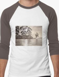 Moonlight Upon The River Men's Baseball ¾ T-Shirt
