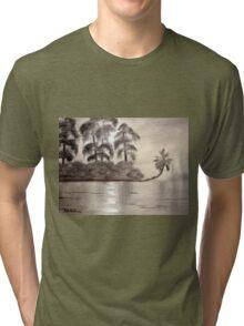 Moonlight Upon The River Tri-blend T-Shirt
