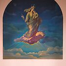 Mural in Church at Azogues Ecuador by Al Bourassa