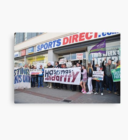 Sports Direct protest, Hastings Canvas Print
