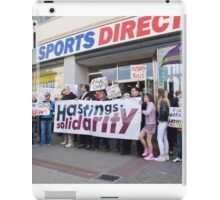 Sports Direct protest, Hastings iPad Case/Skin