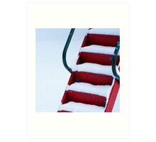 Red Slide Steps Art Print
