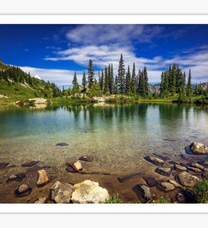 Mountain Lake, Mt Rainier National Park Sticker