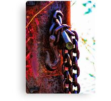 Restrained Rusted Restraint Canvas Print