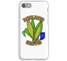 BORN BRED CORN FED INDIANA (brown) iPhone Case/Skin