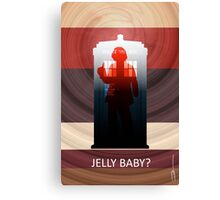 "4th Doctor ""Jelly Baby?""  Canvas Print"