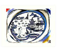 Blue Willow Plate Art Print
