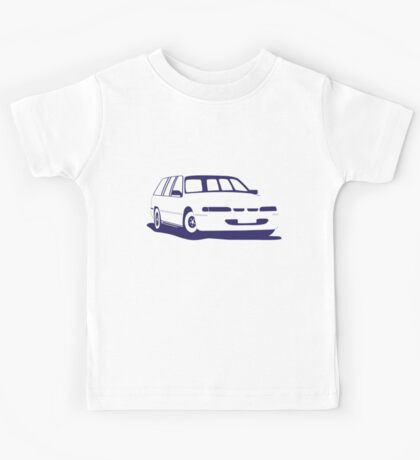 VS Commodore Wagon - Blue Kids Tee