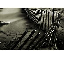 Fence in the Sand Photographic Print