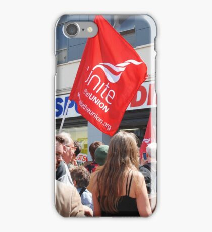 Zero Hour contracts protest, Hastings iPhone Case/Skin