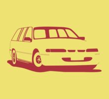 VS Commodore Wagon - Red Baby Tee