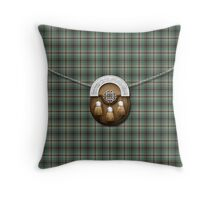 Clan Craig Tartan And Sporran Throw Pillow