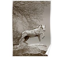 Waterbury Icons - Horse Fountain Poster