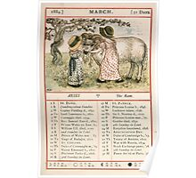 Kate Greenaway Almanack 1880 0009 March Poster