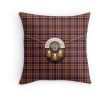 Clan Christie Tartan And Sporran Throw Pillow