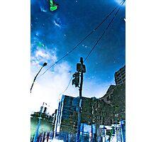 Melbourne flood 2010 reflection Photographic Print