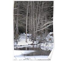 Quiet Winter Scene in Pennsylvania Poster