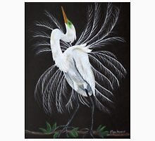 Great egret mating display Unisex T-Shirt
