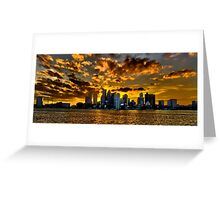 Sunset over Boston Harbor Greeting Card