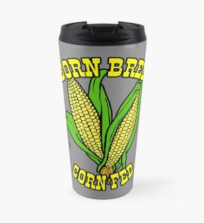 BORN BRED CORN FED (yellow) Travel Mug