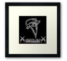 Outlaw with Skull and Guns Framed Print
